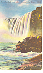 Horseshoe Falls from Below Niagara Falls Postcard p17269 1954
