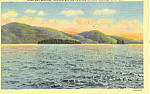 Dome Island Lake George NY Postcard p17292 1952