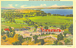 Click here to enlarge image and see more about item p17307: Aerial View of Fort Ticonderoga NY Postcard p17307