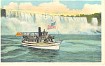 Click here to enlarge image and see more about item p17322: Maid of the Mist, Niagara Falls, NY Postcard 1927