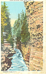 Click here to enlarge image and see more about item p17326: River From Hydes Cave,Ausable Chasm, NY  Postcard