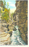 Click here to enlarge image and see more about item p17331: Down the Chasm,Ausable Chasm, NY  Postcard