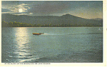 Moonlight on Lake George NY  Postcard p17334