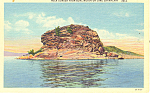 Rock Dunder on Lake Champlain NY  Postcard p17335