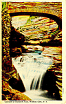 Click here to enlarge image and see more about item p17338: Rainbow Falls Watkins Glen NY  Postcard p17338