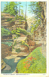 Click here to enlarge image and see more about item p17341: Pillar of Beauty Watkins Glen NY  Postcard p17341 1933