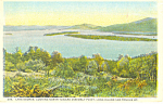 Looking North Lake George, NY  Postcard