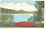 Sixth Lake Black Bear Mt Inlet  NY  Postcard p17353