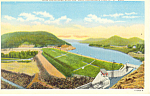 Click here to enlarge image and see more about item p17371: Sacandago Reservoir Dam Adirondacks NY  Postcard p17371
