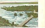 Goat Island and Rapids, Niagara Falls, NY  Postcard