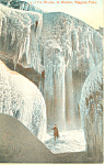 Cave of Winds in Winter Niagara Falls NY  Postcard p17392