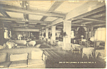 Lounge at Saranac Lake Inn  NY  Postcard p17415 1937