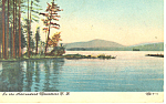 Click here to enlarge image and see more about item p17430: In the Adirondacks NY  Postcard p17430 1907