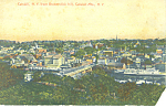 Catskill NY From Broomstick Hill Postcard p17432