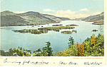 The Narrows from Shelving Rock Lake George NY Postcard p17437