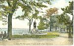 Promenade Hill, Hudson,NY Postcard 1908