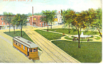 Park Square, Hudson,NY Postcard ca 1908
