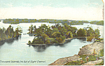 Out of Sight Channel Thousand Islands NY  Postcard p17465