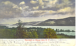 Moonlight on Otsego Lake NY  Postcard p17484 1906
