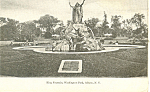King Fountain Albany NY   Postcard p17491