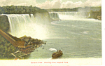 General View of Niagara Falls NY   Postcard p17494