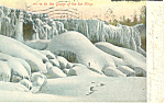 Grasp of Ice King Niagara Falls NY   Postcard p17496 1907