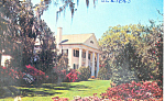 Click here to enlarge image and see more about item p17554: Plantation House  and Azaleas NC Postcard p17554