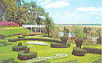 Scroll Garden Orton Plantation NC Postcard p17567