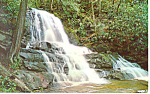 Laurel Falls Smoky Mountains National Park NC Postcard p17571 1971