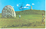 Wright Bros Take Off Site Kill Devil Hills NC Postcard p17574