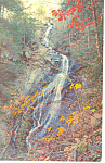 Mountain Waterfall Western NC Postcard p17595