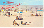 Carolina Beach  NC Postcard p17596 1981