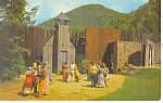 Unto These Hills,Cherokee NC Postcard p17602