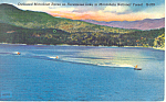 Click here to enlarge image and see more about item p17630: Boat Races Nantahala National Forest NC Postcard p17630