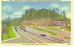 Click here to enlarge image and see more about item p17632: Newfound Gap Smoky Mountains National Park NC Postcard p17632