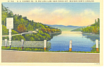 Highway 74 Lake Lure NC Postcard p17644