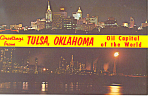 Click here to enlarge image and see more about item p17665: Greetings From Tulsa OK Postcard p17665 1968
