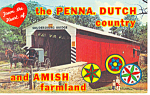 Click here to enlarge image and see more about item p17682: Soudersburg Covered Bridge, Lancaster, PA Postcard