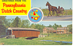 Old Covered Bridge,PA Dutch Country Postcard