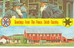Amish Barn and Hex Signs,PA Postcard p17688