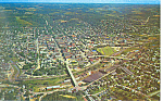 Aerial View of Butler PA Postcard p17717 1963