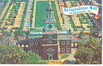Independence Hall and Mall Philadelphia PA Postcard p17762