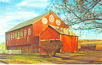 Barn with Hex Signs,PA Dutch Country Postcard