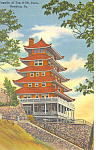 Pagoda at Top of Mt Penn, Reading,PA  Postcard