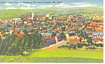 Aerial View of Reading PA  Postcard p17775