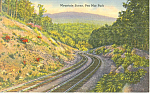 Mountain Scene Penn Mar Park PA Postcard p17783