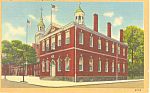 Congress Hall Philadelphia PA Postcard p17804