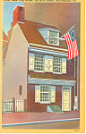 Click here to enlarge image and see more about item p17807: Betsy Ross House Philadelphia PA Postcard p17807