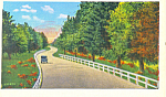 Highway Scene Pennsylvania Postcard