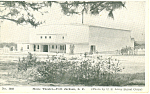 Music Theatre Fort Jackson SC Postcard p17867 1944